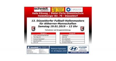 13. Düsseldorfer Fußball-Hallenmasters für Altherren-Mannschaften